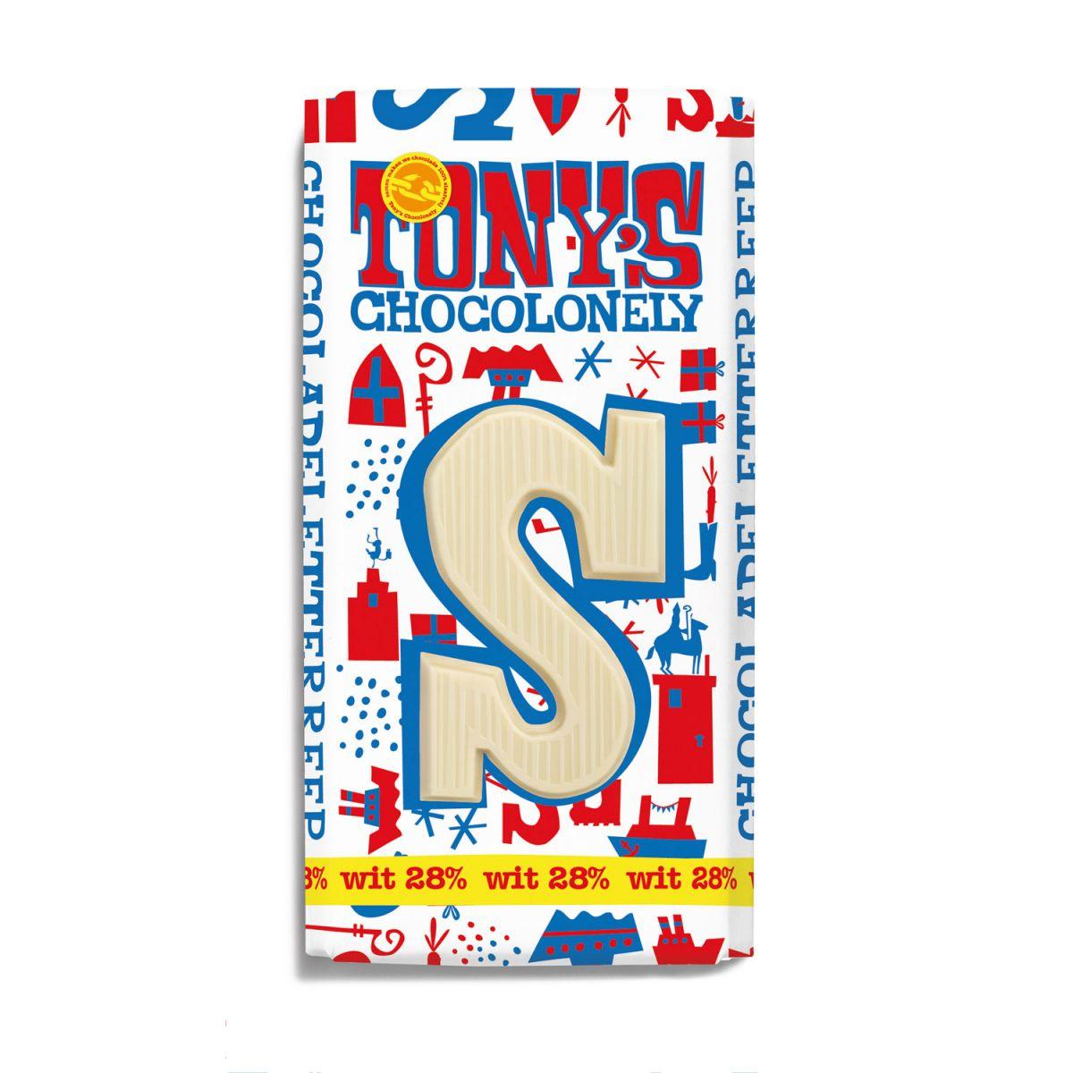 Tony's Chocolonely Letterreep Witte chocolade